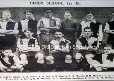 Terry Fletcher -1926 Derby School 1st XI