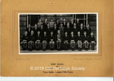 Tony Astle - Lower Fifth Form 1950