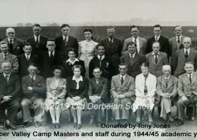Tony Jones - Masters at Amber Valley Camp 1944-45