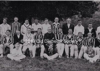 Wright - Old Derbeians verus Derby School 1928